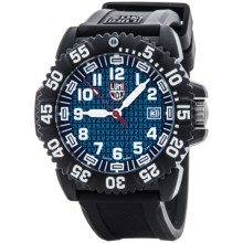 Luminox Navy SEAL Colormark 3051.25TH Analog Watch - Rubberized Band (For Men) in Blue/Black - Closeouts