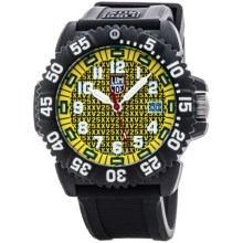Luminox Navy SEAL Colormark 3051.25TH Analog Watch - Rubberized Band (For Men) in Yellow/Black - Closeouts