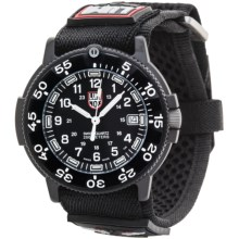 Luminox Original Navy Seal Watch - Nylon Strap (For Men) in Black/Black - Closeouts