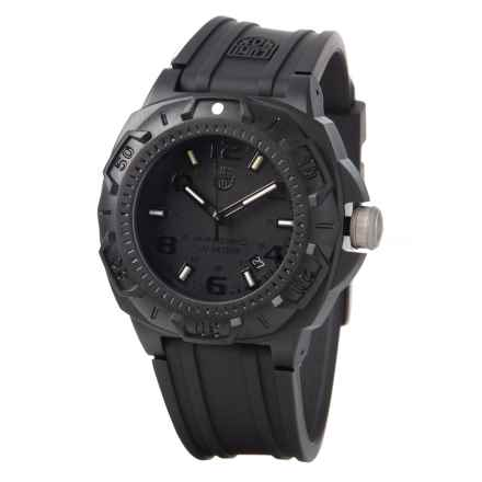 Luminox Sentry 0201 Carbon Watch - 43mm, Polyurethane Strap (For Men) in Black - Closeouts