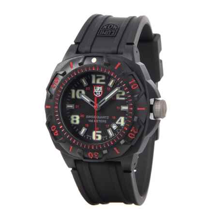 Luminox Sentry 0215 Carbon Watch - 43mm, Polyurethane Strap (For Men) in Black/Red - Closeouts