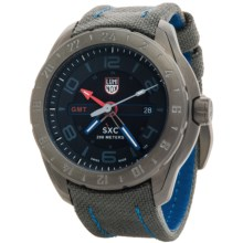 Luminox XCOR Aerospace GMT 5120 Series Watch - Cordura® Nylon Strap (For Men) in Black/Grey - Closeouts