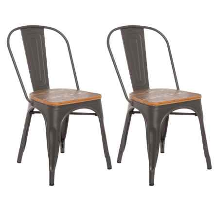 LumiSource Oregon Dining Chairs - Set of 2 in Natural - Closeouts