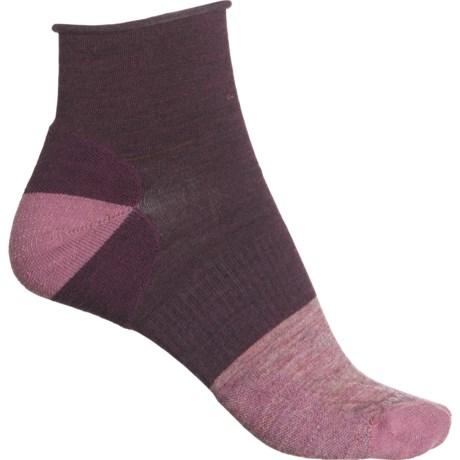 Luna Mini Boot Socks - Merino Wool, Quarter Crew (For Women) - BORDEAUX HEATHER (S ) -  SmartWool