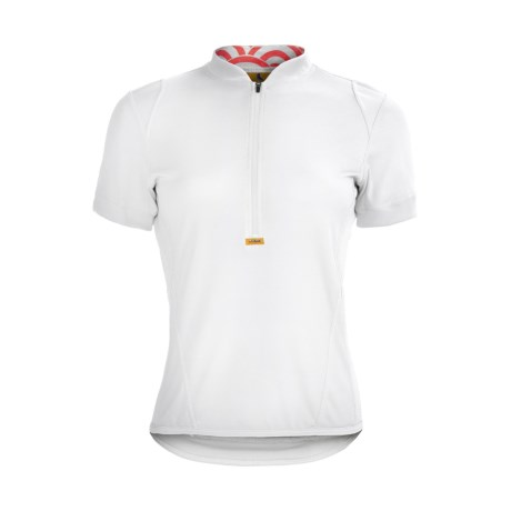Luna Sport Clothing Phebe Cycling Jersey - Half Zip, Short Sleeve (For Women) in White/Red