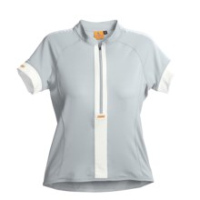 Luna Sport Clothing Stripe Cycling Jersey - Half-Zip, Short Sleeve (For Women) in Moon - Closeouts