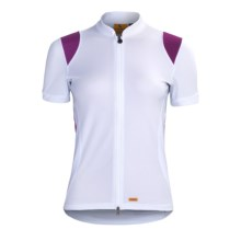 Luna Sport Clothing Tranquility Cycling Jersey - Recycled Materials, Short Sleeve (For Women) in White - Closeouts