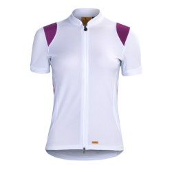 Luna Sport Clothing Tranquility Cycling Jersey - Recycled Materials, Short Sleeve (For Women) in Shell