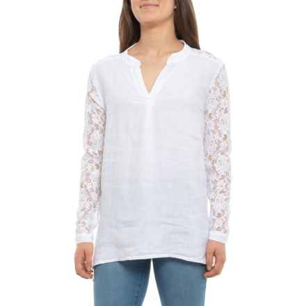 321c69d40 Lungo L'Arno Made in Italy Crochet Linen Shirt - Long Sleeve (For Women