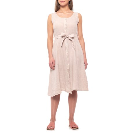 3eb8df60ac Lungo L Arno Made in Italy Sabia Button-Front Midi Dress (For Women ...