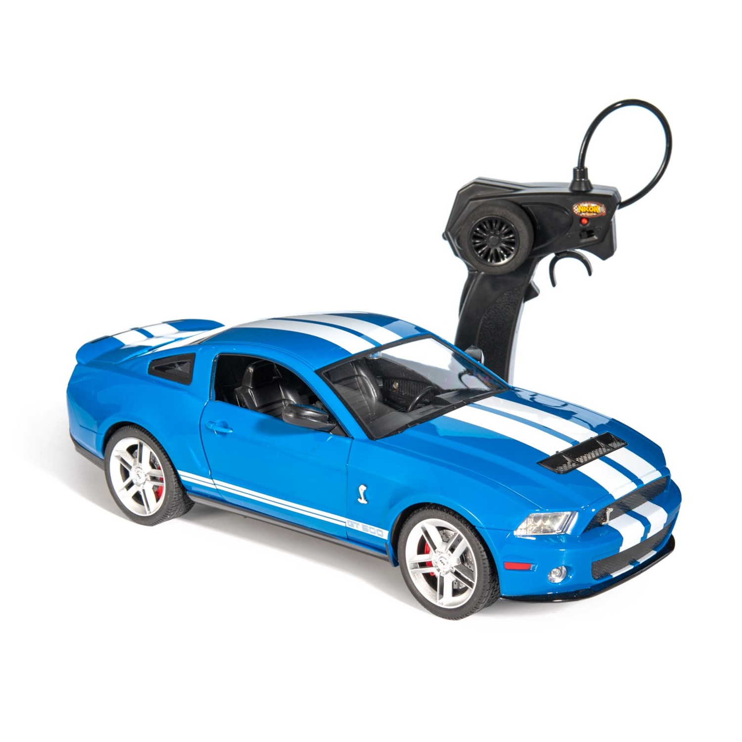 Luxe blue ford shelby mustang gt 500 remote control car 114 scale tap to expand