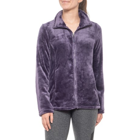 Luxe Faux-Fur Jacket (For Women) - VELVET PURPLE (S )