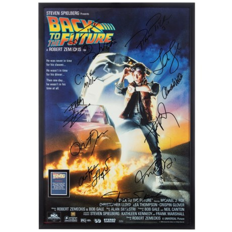"""Luxe West """"Back to the Future"""" Cast Autographed Movie Poster in See Photo"""