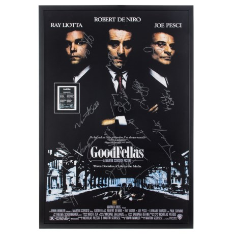 """Luxe West """"Goodfellas"""" Autographed Framed Movie Poster in See Photo"""