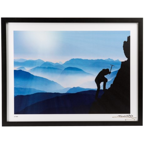 "Luxe West 18x24"" Fairchild Paris Mountain Climber with Ice Axe Print in See Photo"