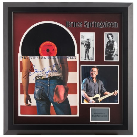 Luxe West Bruce Springsteen Framed Autographed Album in See Photo