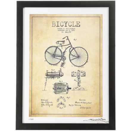 "Luxe West Fairchild Paris 1891 Bicycle Patent Print - 12x16"" in See Photo - Closeouts"