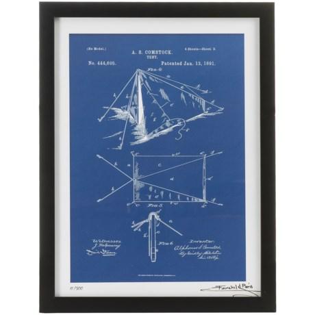 """Luxe West Fairchild Paris Tent Patent Print - 12x16"""" in Blue"""