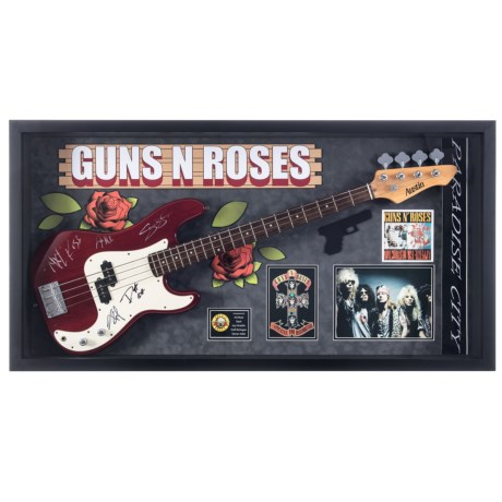 Luxe West Guns N' Roses Autographed Bass Guitar in See Photo