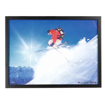 "Luxe West Modern Skier Cruising Print - 17x23"" in Multi - Closeouts"