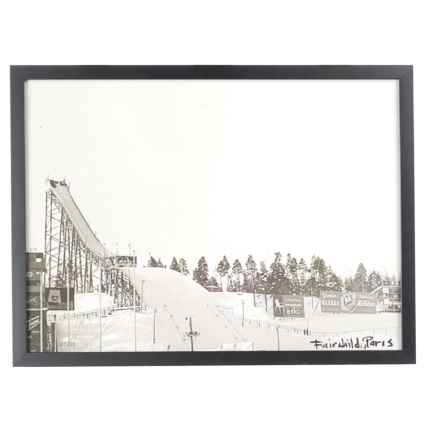 "Luxe West Vintage Long Jump Print - 17x23"" in Black/White - Closeouts"