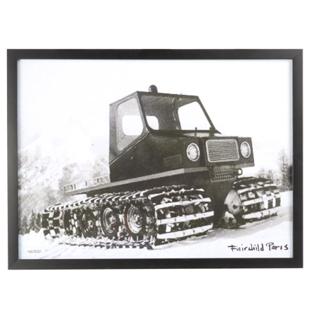 """Luxe West Vintage Snowcat Clearing Print - 17x23"""" in Black/White"""