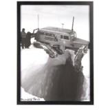 "Luxe West Vintage Snowcat Vertical Print - 17x23"""
