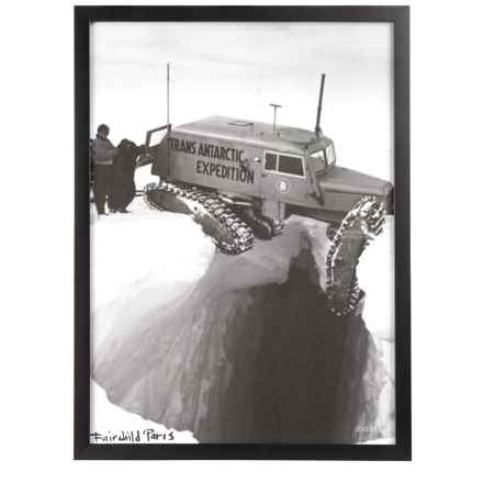 """Luxe West Vintage Snowcat Vertical Print - 17x23"""" in Black/White - Closeouts"""