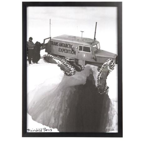 "Luxe West Vintage Snowcat Vertical Print - 17x23"" in Black/White"