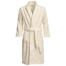 Luxury Spa Robe - Egyptian Cotton, Long Sleeve (For Men) in Ecru - Closeouts
