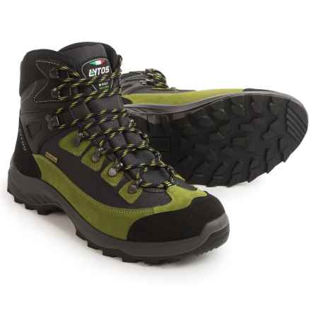 Lytos Tarent Hiking Boots - Waterproof (For Men) in Black/Green - Closeouts