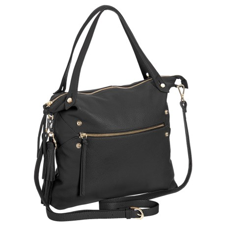 M London Convertible Tote Bag - Leather (For Women) in Black