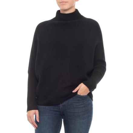 M Magaschoni Dolman Rib Pullover Sweater - Cashmere (For Women) in Black - Closeouts