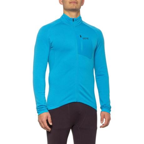 M Thermo Shirt - Full Zip, Long Sleeve (For Men) - DYNAMIC CYAN (2XL )