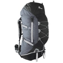 Macpac Cascade 75L Backpack - Internal Frame in Black/Slate - Closeouts