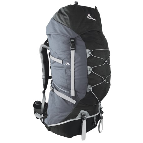 Macpac Cascade 75L Backpack - Internal Frame in Black/Slate