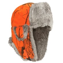 Mad Bomber® Aviator Hat - Rabbit Fur (For Men and Women) in Blaze Realtree W/Grey Fur - Closeouts
