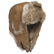 Mad Bomber® Aviator Hat - Rabbit Fur (For Men and Women) in Brown W/Brown Fur - Closeouts