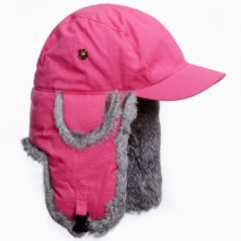 Mad Bomber® Blizzard Aviator Hat - Insulated, Rabbit Fur, Canvas (For Men and Women) in Wine - Closeouts