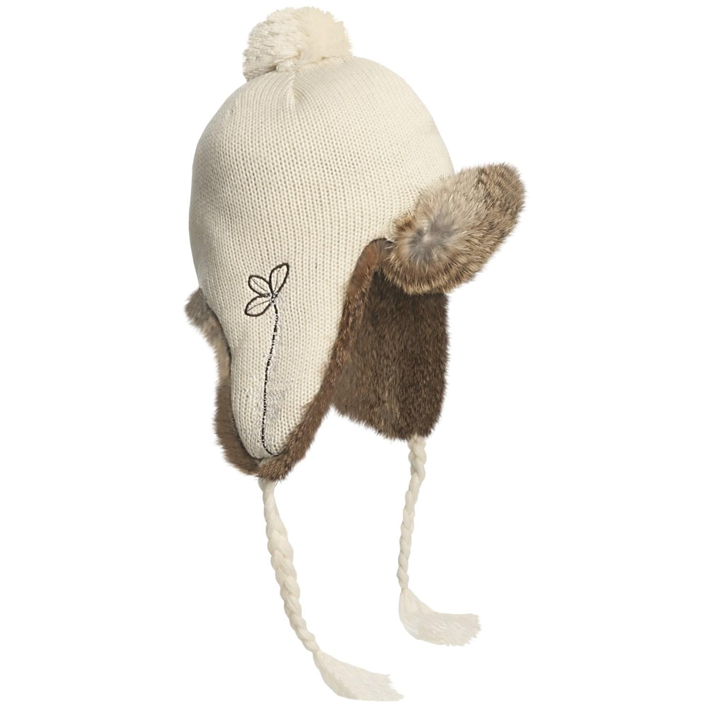 mad bomber 174 girly knit aviator hat for in whisper