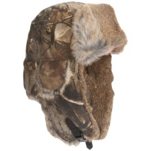 Mad Bomber® Lil' Camo Aviator Hat - Canvas, Fur Trim, Ear Flaps (For Kids) in Realtree W/Brown Fur - Closeouts
