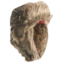 Mad Bomber® Lil' Camo Canvas Aviator Hat - Faux Fur (For Kids) in Mossy Oak Breakup Infinity W/Brown Fur - Closeouts