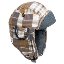 Mad Bomber® Madras Plaid Aviator Hat (For Men and Women) in Yellow - Closeouts