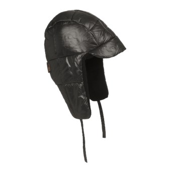 Mad Bomber® Puffy Aviator Hat - Insulated, Fleece Lining (For Men and Women) in Black