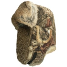 Mad Bomber® Saddlecloth Camo Aviator Hat - Rabbit Fur, Insulated (For Men and Women) in Mossy Oak Breakup Indinity W/Brown Fur - Closeouts