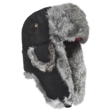 Mad Bomber® Supplex Aviator Hat (For Kids) in Black W/Grey Fur - Closeouts