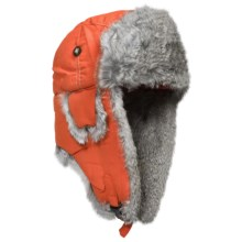 Mad Bomber® Supplex Aviator Hat (For Kids) in Blaze W/Grey Fur - Closeouts