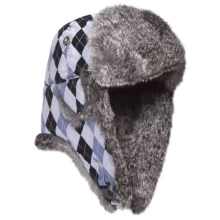 Mad Bomber® Supplex Aviator Hat (For Kids) in Blue Diamond W/Grey Fur - Closeouts