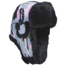 Mad Bomber® Supplex Aviator Hat (For Kids) in Camo Berry W/Black Fur - Closeouts