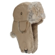 Mad Bomber® Supplex Aviator Hat (For Kids) in Khaki W/Brown Fur - Closeouts